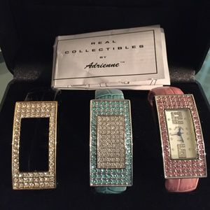 ADRIENNE REAL COLLECTIBLES CUFF WATCH